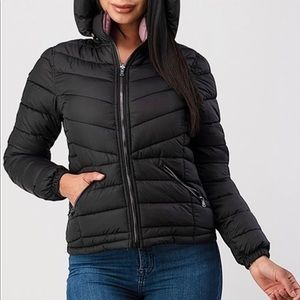 Double padded reversible puff coat